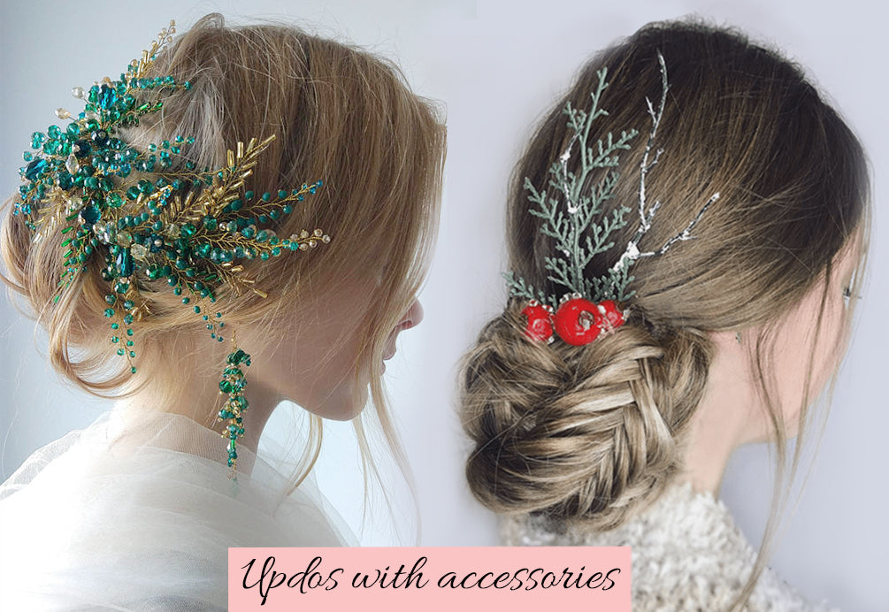 new year's hairstyle ideas, updos with extensions, how to make updo with hair extensions, braided hair extensions