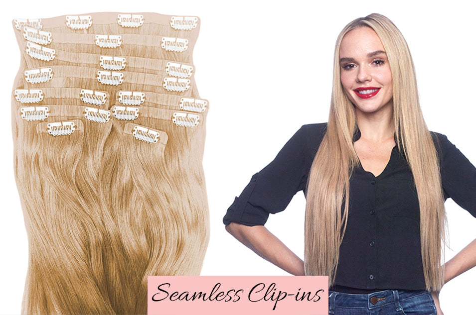 invisible hair extensions for thin hair, how to wear clip in extensions, how to style hair extensions to look natural