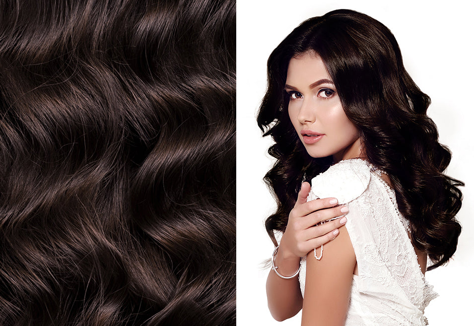 dark brown hair extensions, long clip in hair extensions, best extensions for thin hair