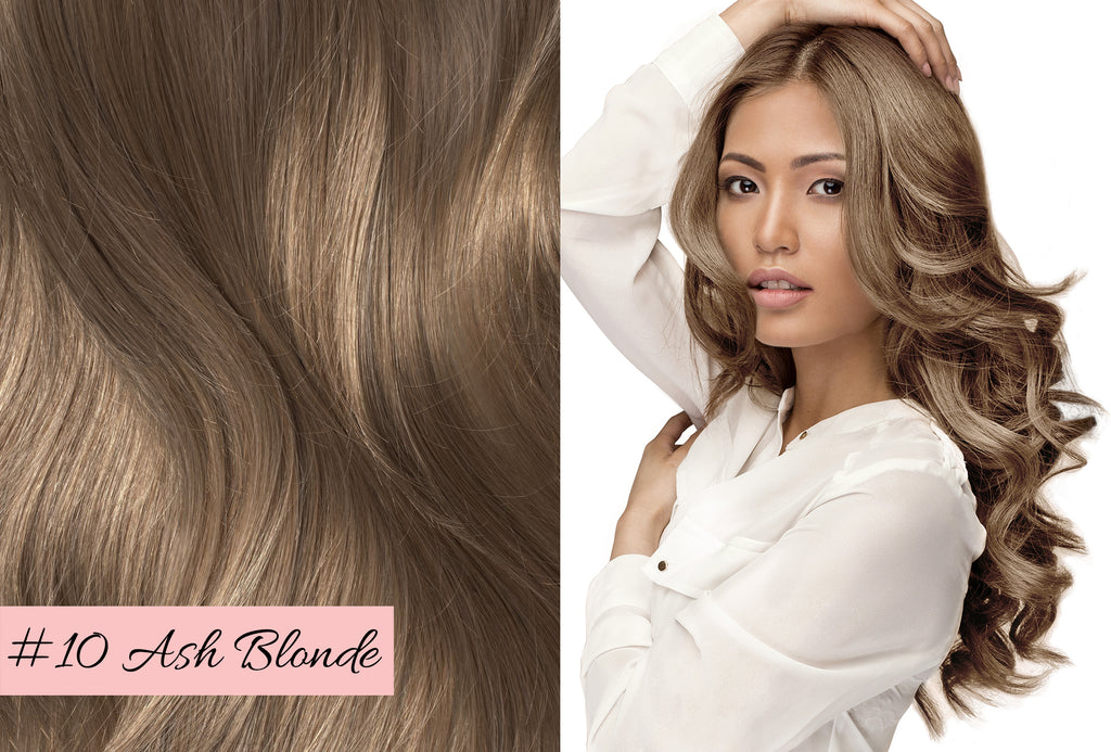 Irresistible Me ash blonde hair extensions, how to choose the right color of hair extensions