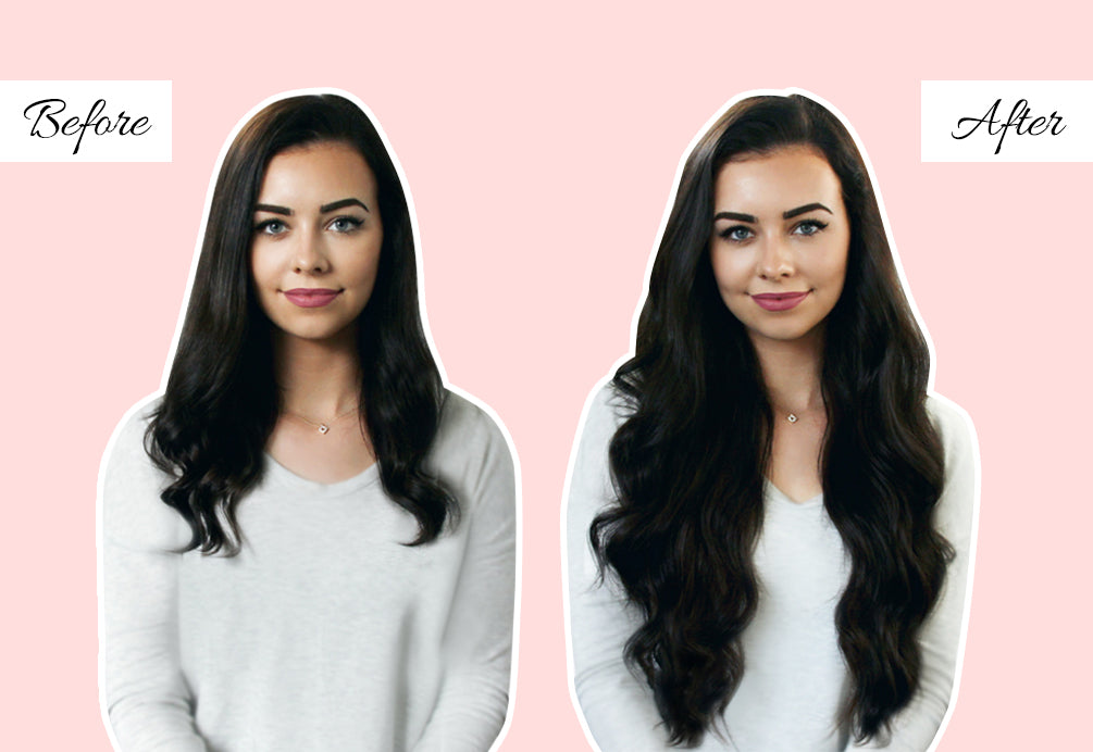 20 inch hair extensions before and after, hair extensions before and after pics, how to wear clip in extensions