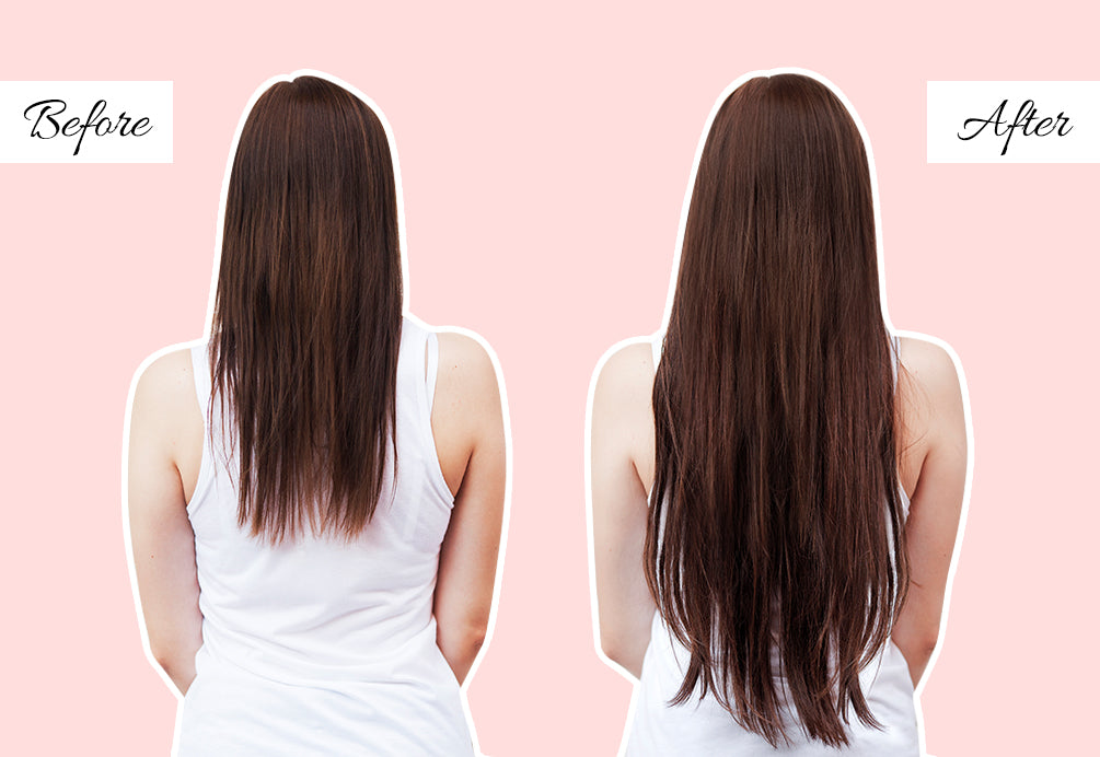 best extensions for thin hair, thin hair extensions before and after, clip in hair extensions before and after