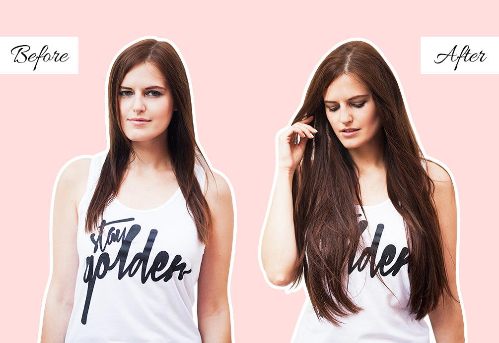 thin hair extensions before and after, clip in hair extensions for thin hair before and after, hair extensions before and after pics
