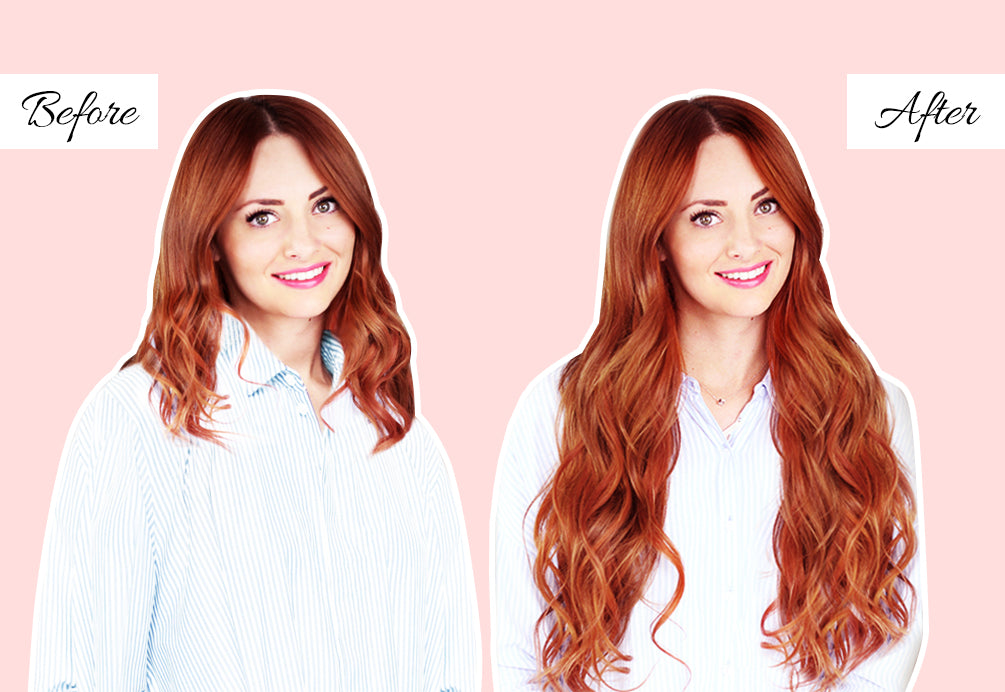 colored hair extensions, before and after extensions, 20 in hair extensions before and after