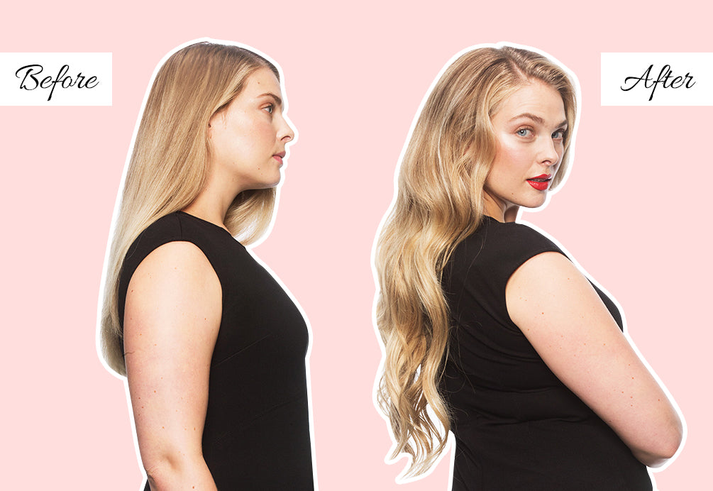 easiest hair extensions to apply yourself, medium length hair extensions before and after
