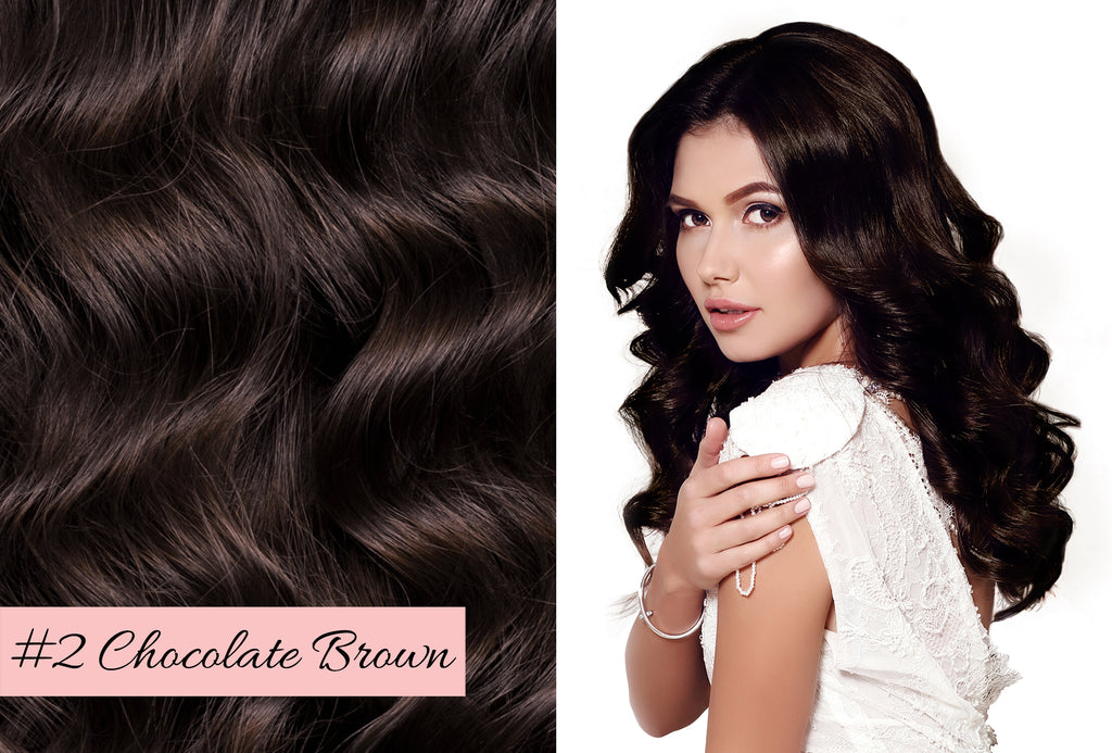 Irresistible Me chocolate brown hair extensions, how to match the color of your hair extensions