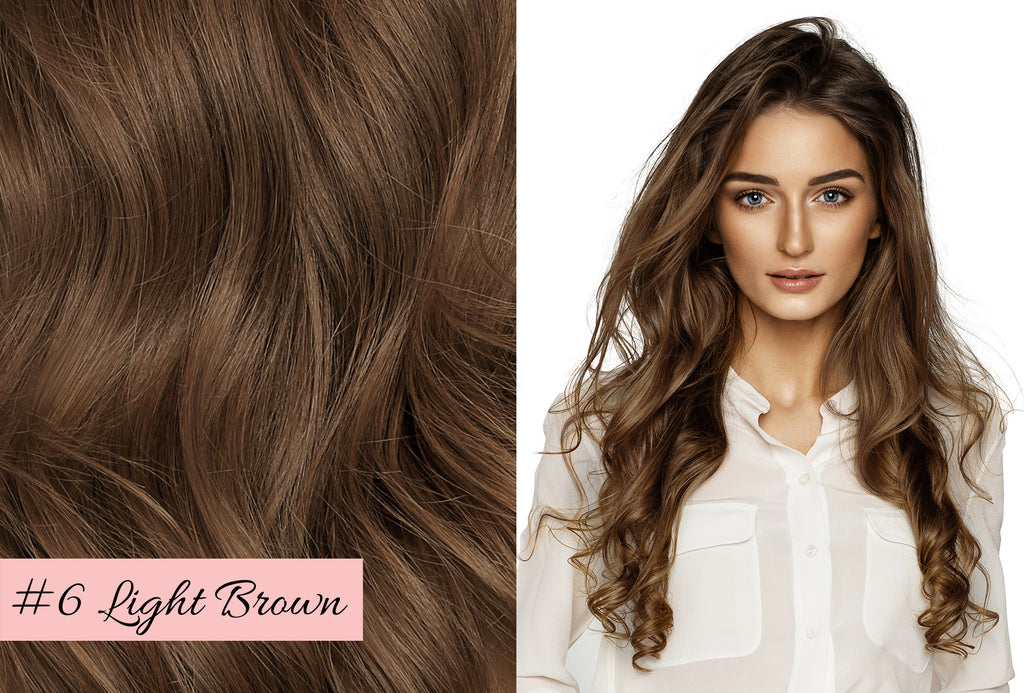 Irresistible Me light brown hair extensions, how to choose the color of your hair extensions