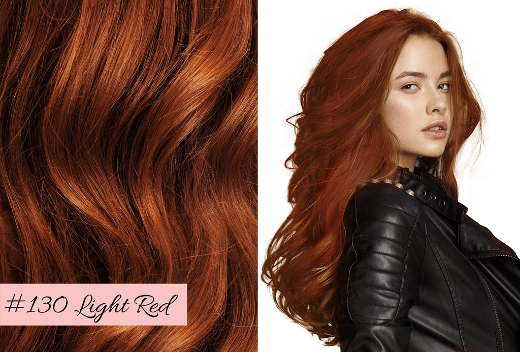 Irresistible Me light red, how to choose the right red color for your extensions