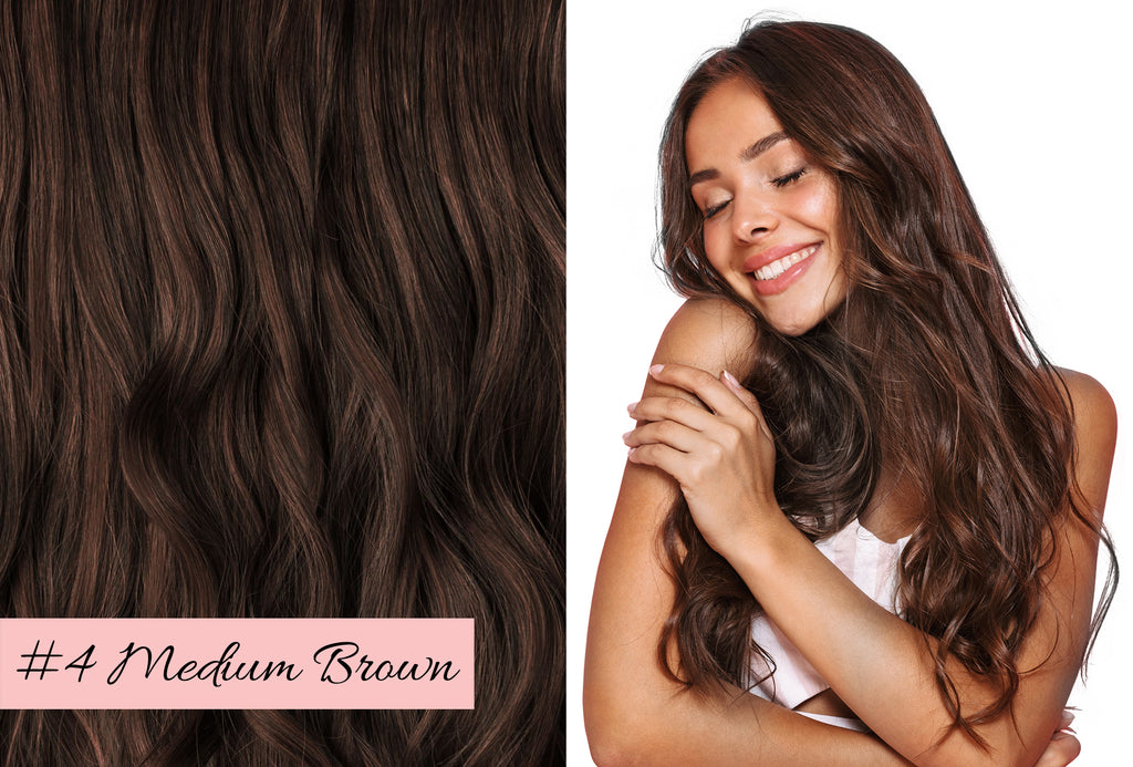Irresistible Me medium brown hair extensions, picking the right color for your hair extensions