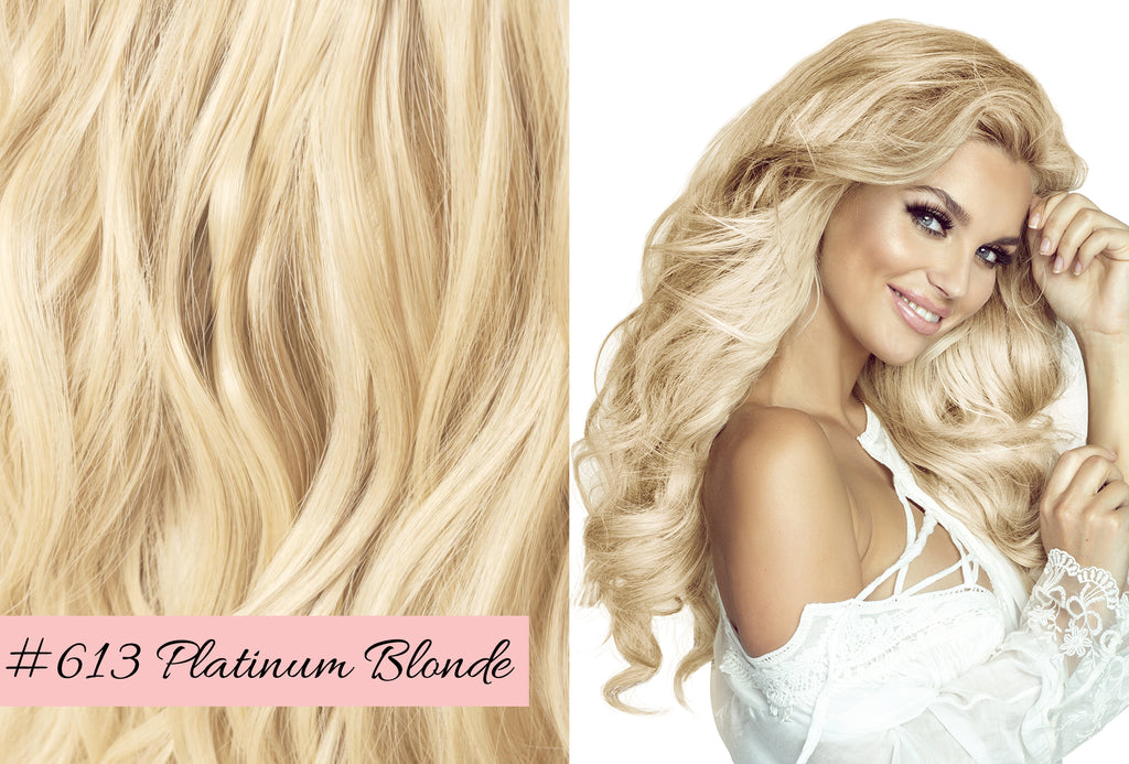 Irresistible Me platinum blonde hair extensions, choosing the right blonde color for your hair extensions