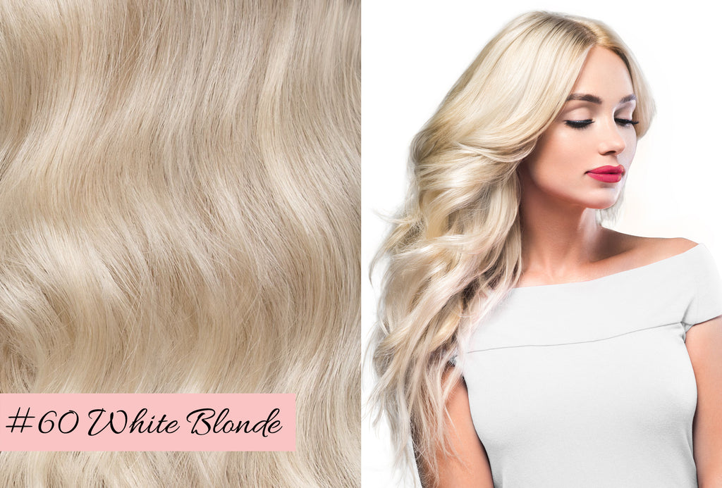 Irresistible Me white blonde hair extensions, how to pick the right color for your hair extensions