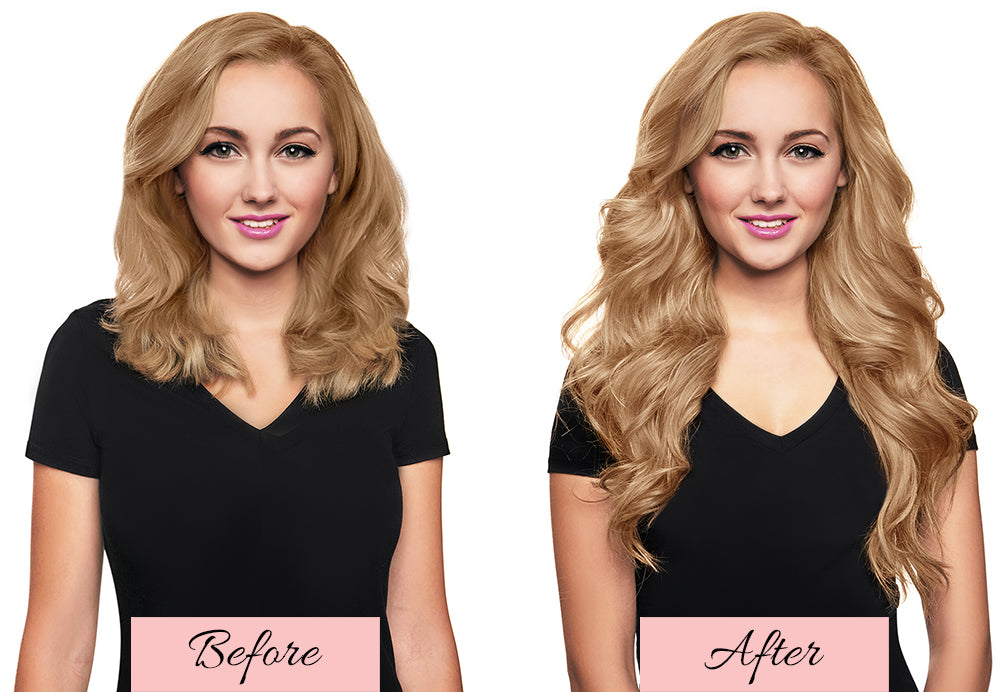 hair extensions before and after, short hair to extensions before and after,mlong blonde hair extensions