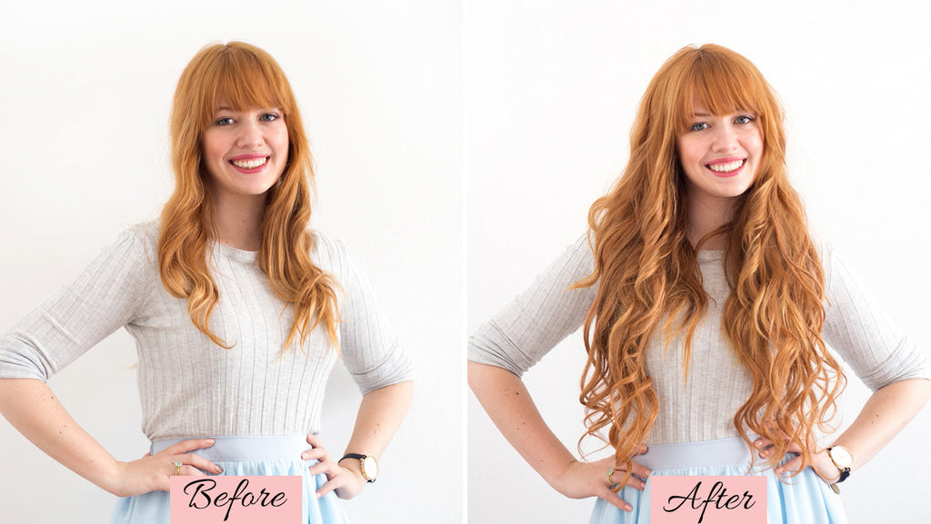 hair extensions before and after short to long, hair extensions before and after, clip in hair extensions for short hair before and after