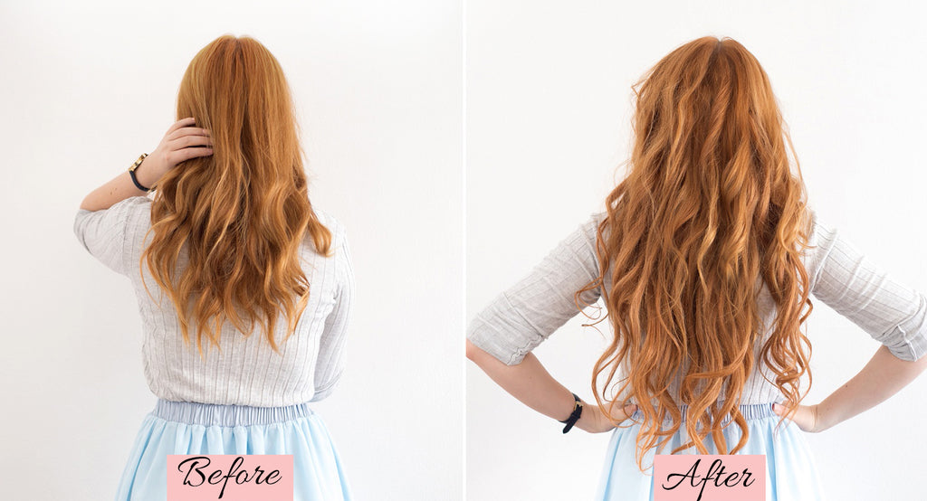 hair extensions before and after, clip in hair extensions before and after, how to use clip in hair extensions