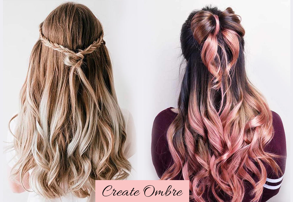 valentine's day hair color, cute easy valentine hairstyles, ombre hair extensions clip in human hair