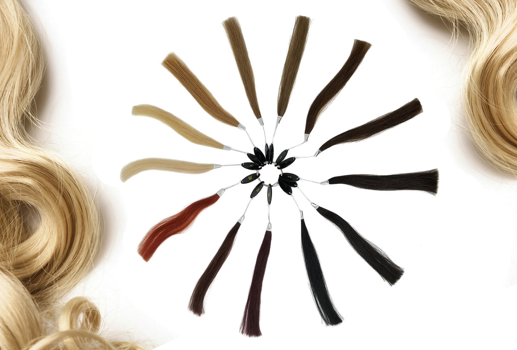 Irresistible Me color ring, how to pick the right color for your hair extensions, hair extensions colors