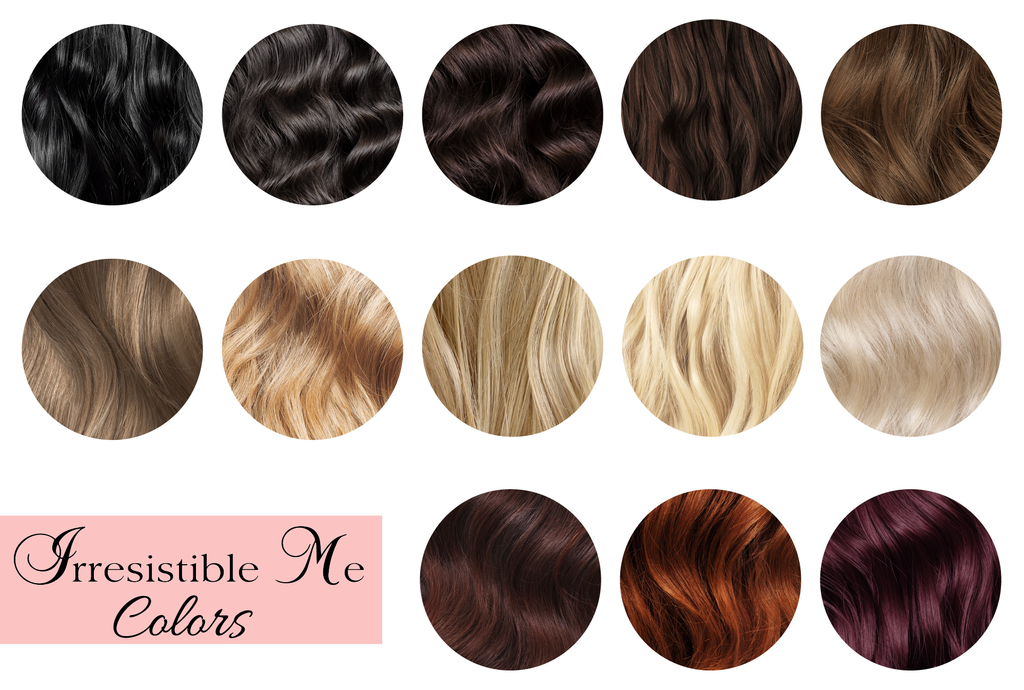 Irresistible Me hair extensions colors, how to choose the perfect color for your extensions