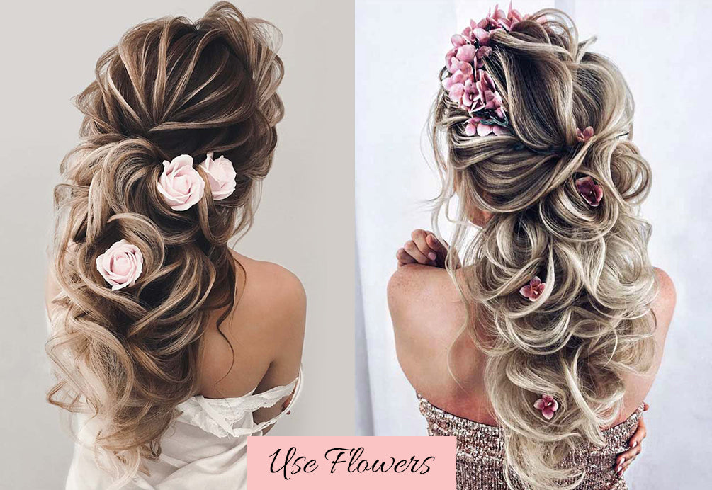 valentine's day hairstyles, hair for valentine's day, hairstyles with flowers