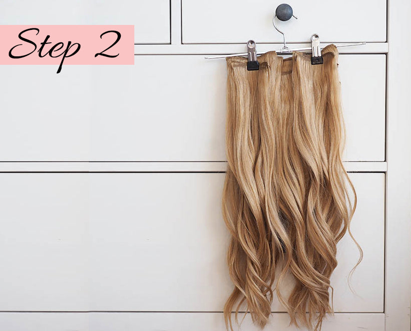 how to curl hair extensions, how to put in hair extensions, how to curl extensions