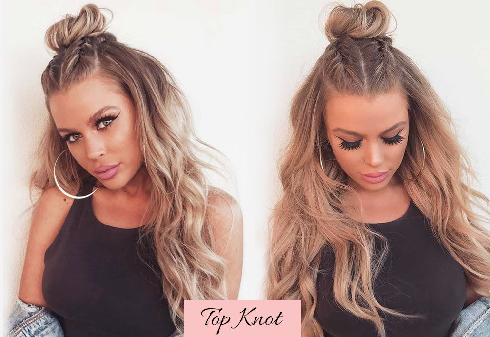 hairstyles for valentines, cute easy valentine hairstyles, half up half down clip ins