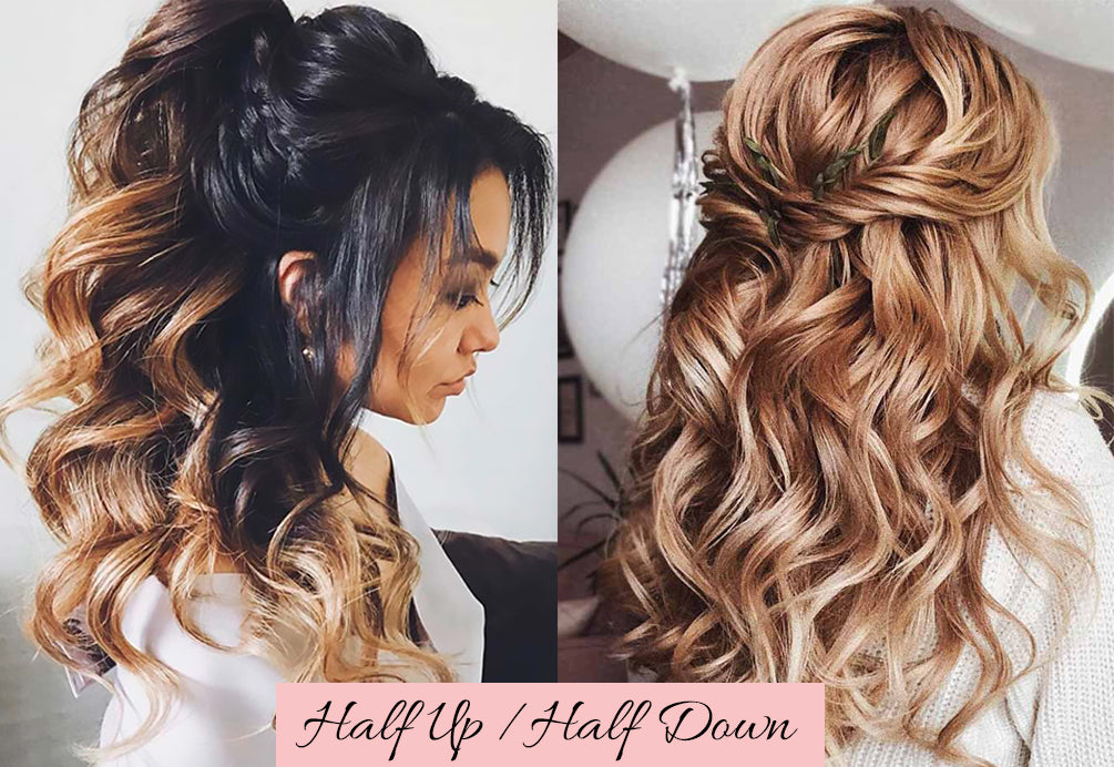 easy valentine's day hairstyles, half up half down hair clip, half up half down extensions