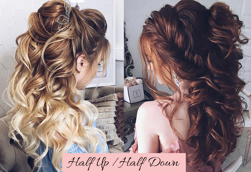 half up half down with extensions, easy hairstyles for valentine's day, hair valentine's day
