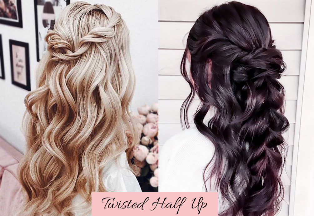 valentines hair ideas, hair for valentine's day, half up half down with clip ins