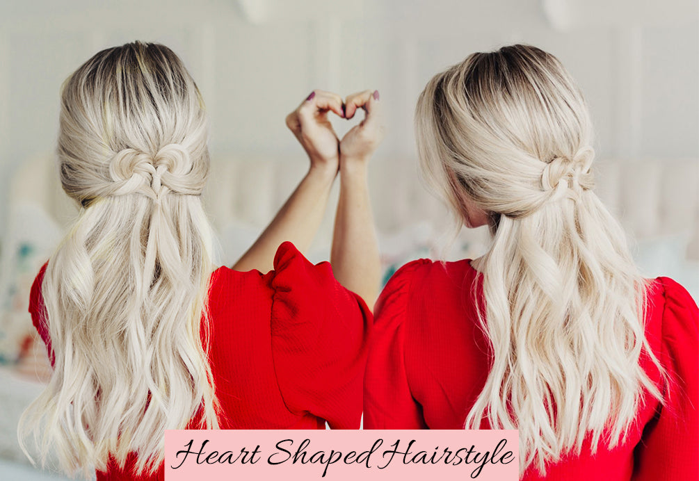 valentine's day hair, easy hairstyles for valentine's day, how to braid hair with extensions