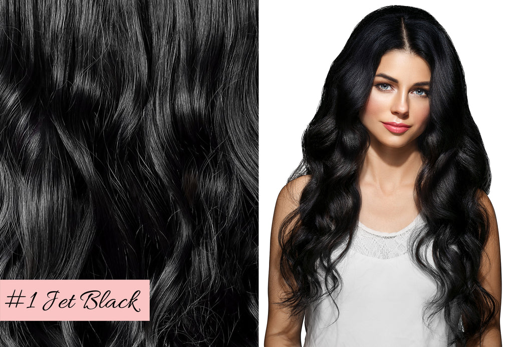 Irresistible Me jet black hair extensions, how to pick the right hair extensions color