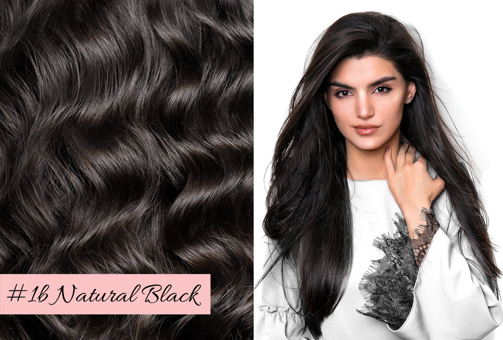 Irresistible Me natural black hair extensions, picking the right color for your hair extensions