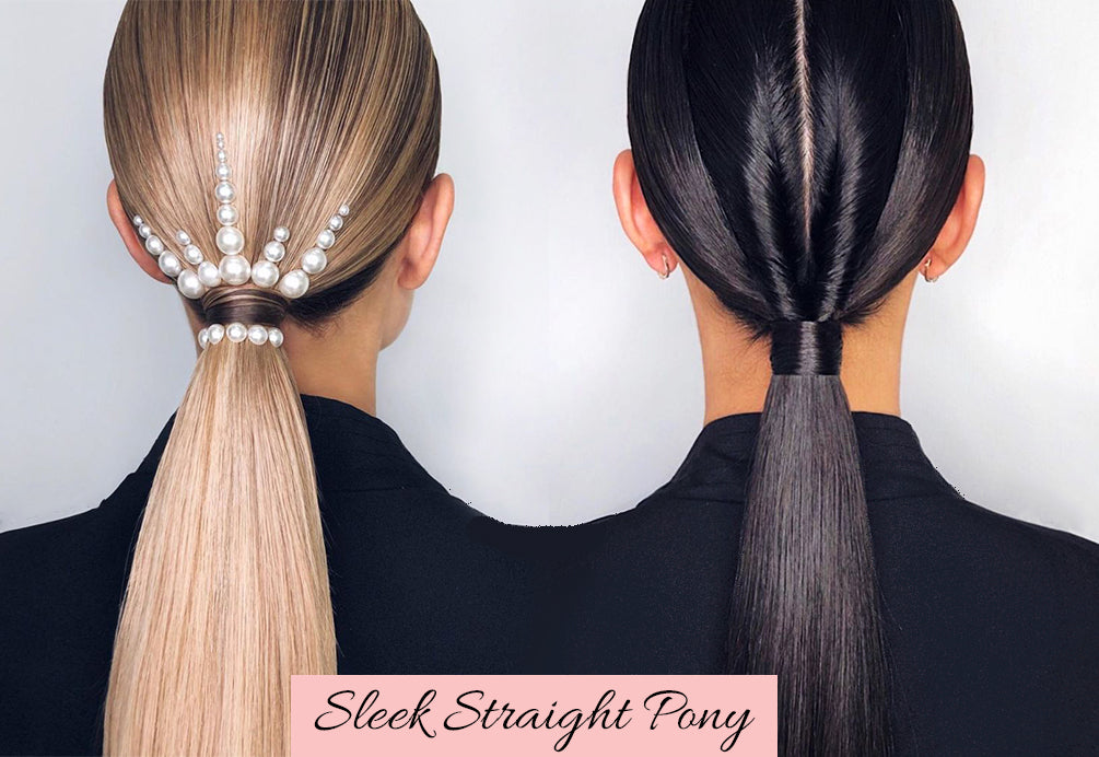 easy valentines hair, clip in ponytails, straight ponytail extension
