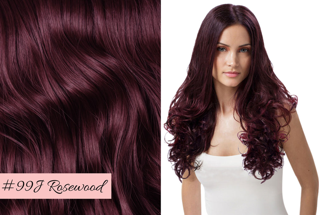 Irresistible Me rosewood hair extensions, how to match the color of your hair extensions