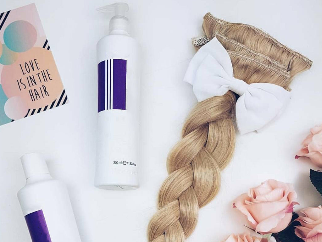 how to use purple shampoo to tone hair extensions, toning hair extensions with purple shampoo