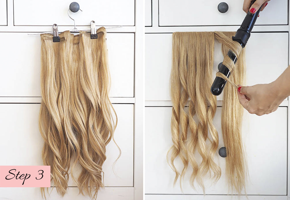 how to curl your hair extensions to match your natural hair, blending hair extensions with natural curly hair