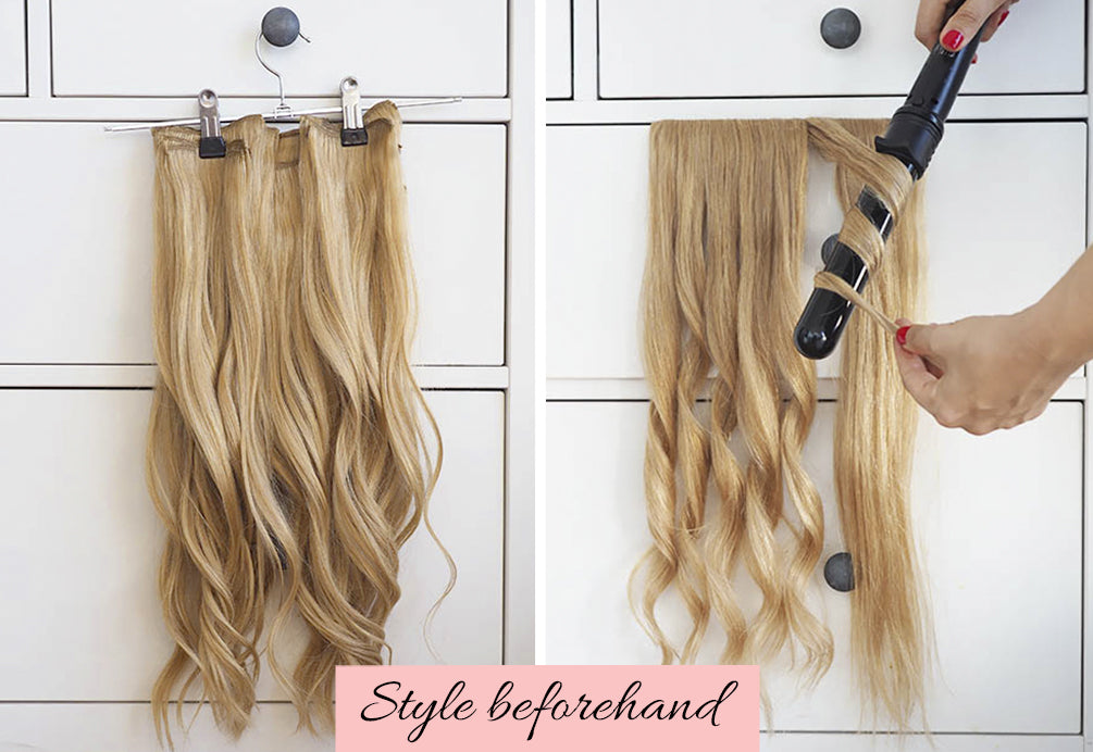 how to hide short hair under extensions, how to make extensions look real in short hair, clip in extensions in short hair