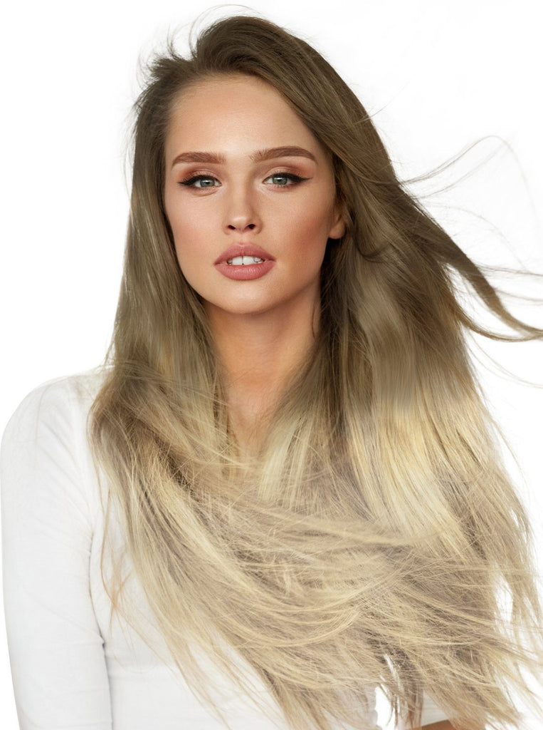Royal Ombre Ash Blonde (#10) - White Blonde (#60)