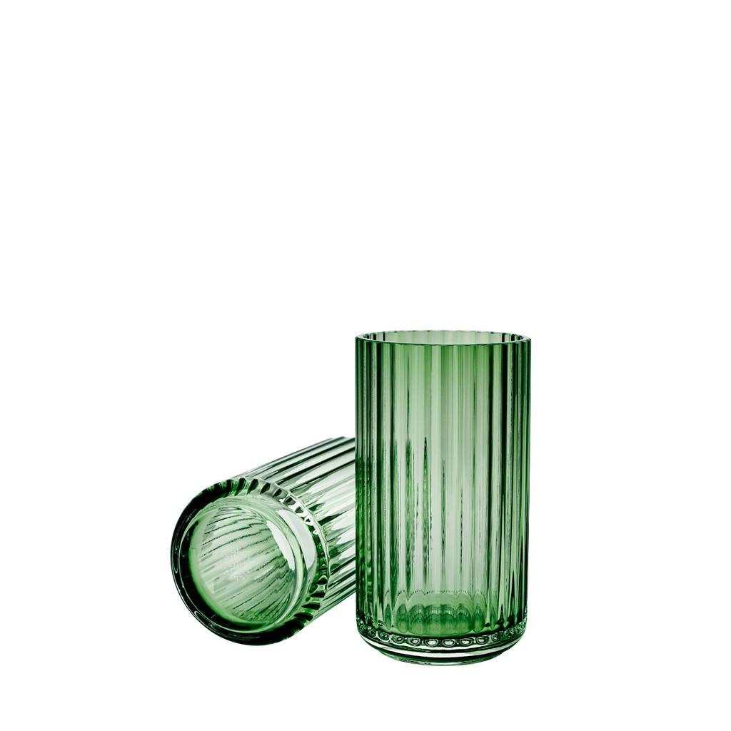 Vase H20,5 copenhagen green mouth blown glass