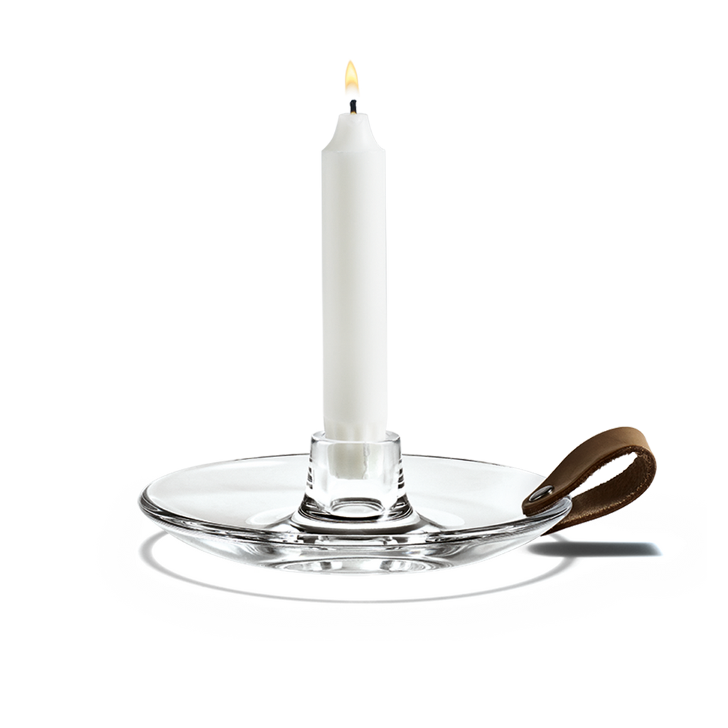DWL Chamber Candle Holder Clear 016cm - Czech