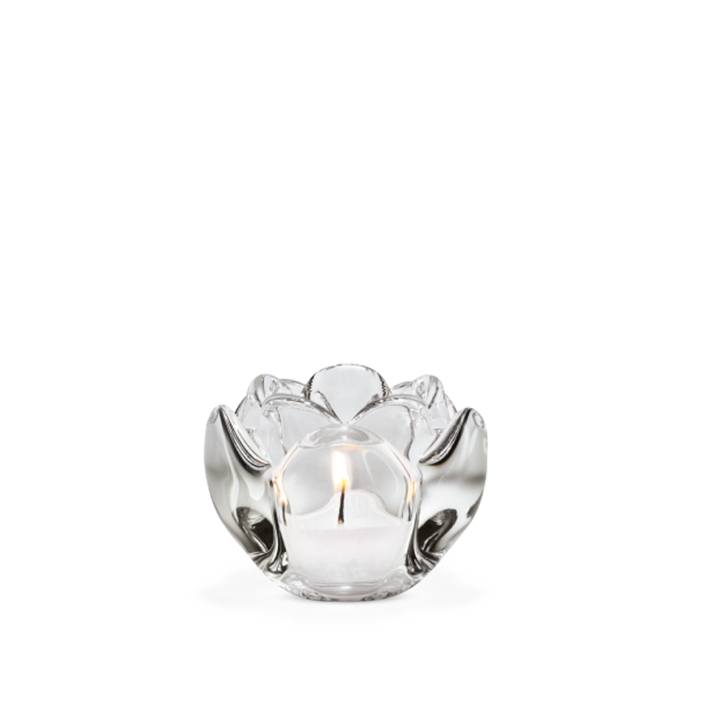 Lotus Tealight Holder Clear H6,5 - Poland