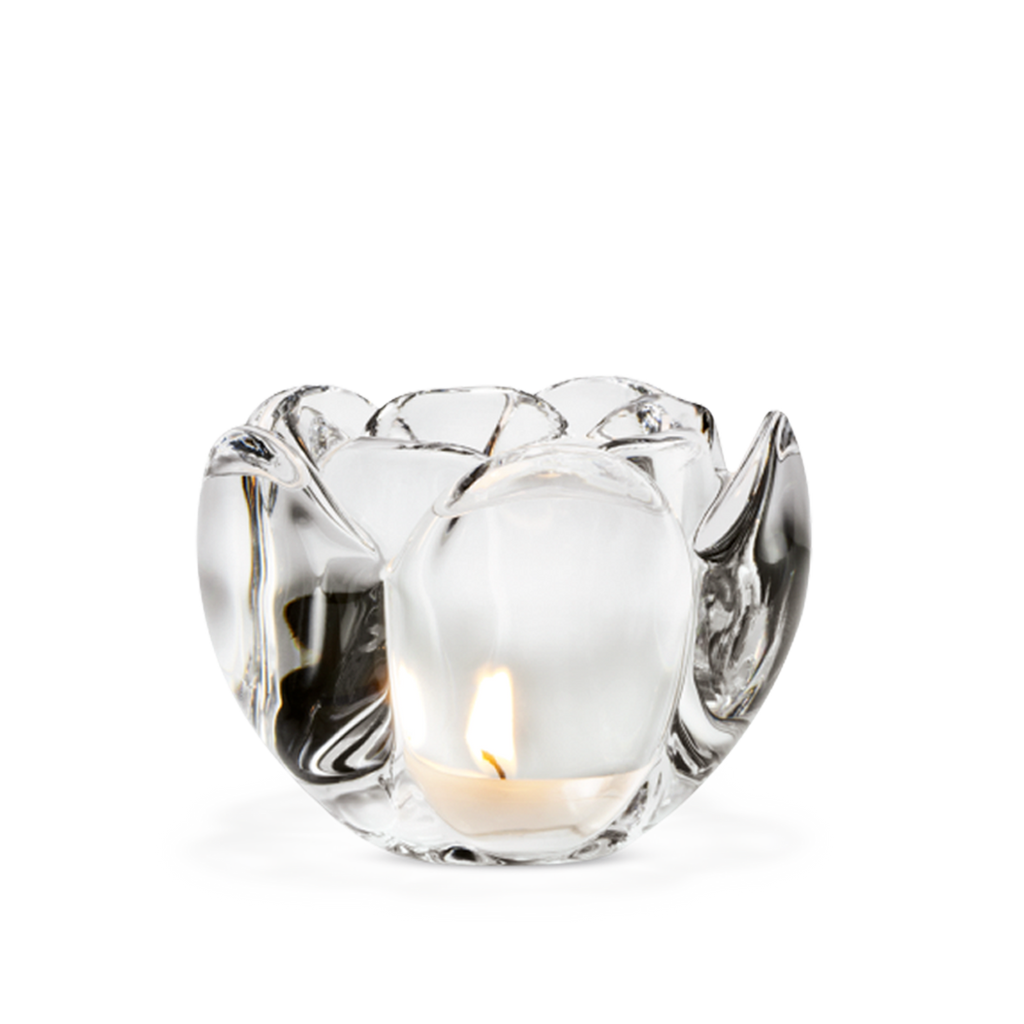 Lotus Tealight Holder Clear H9 - Poland