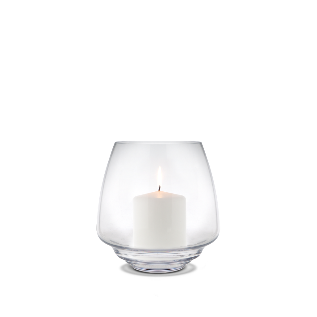 Flow Block Candle Holder Clear 018,5 cm - Poland