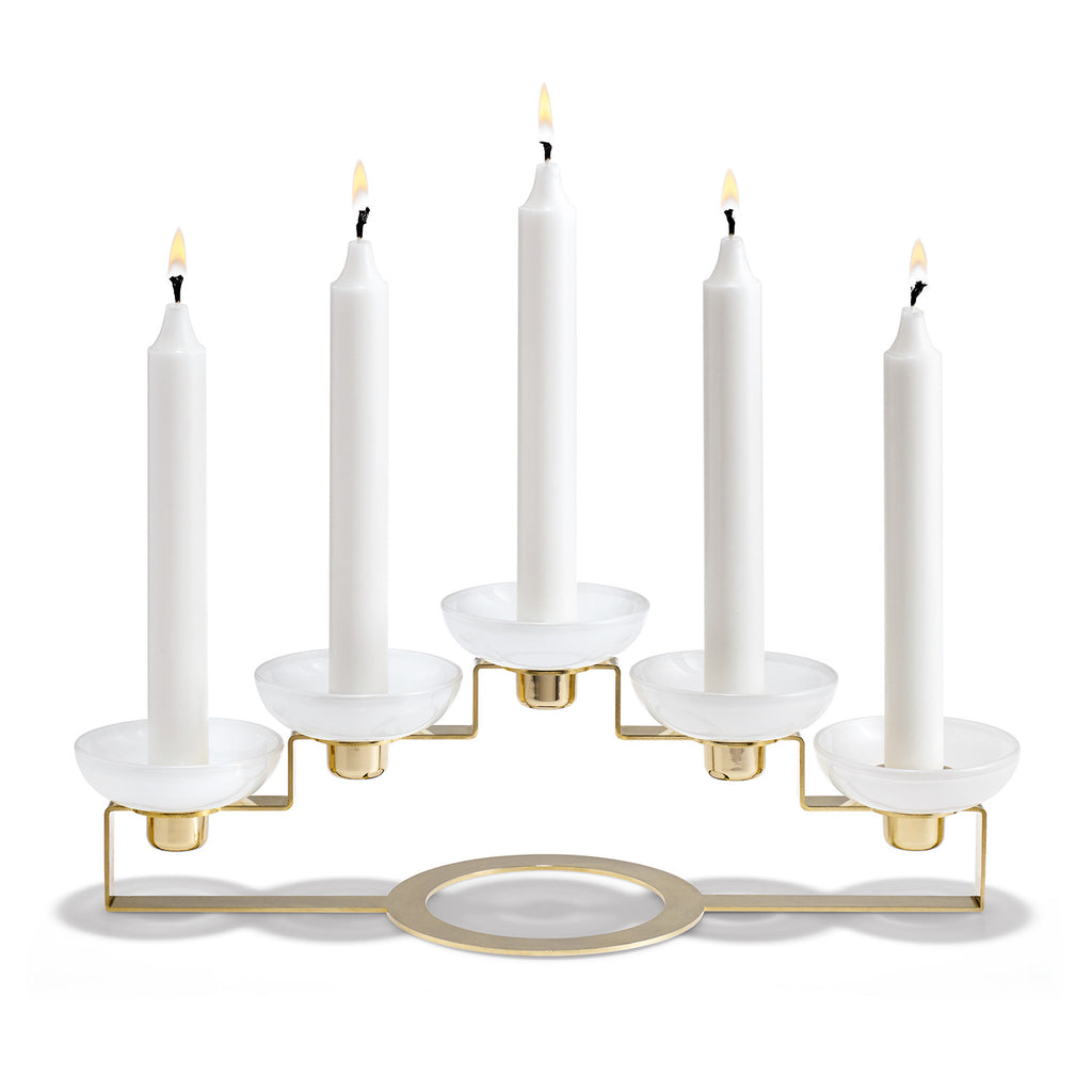 Lumi Candle Holder 5-Armed H11 cm Brass - China