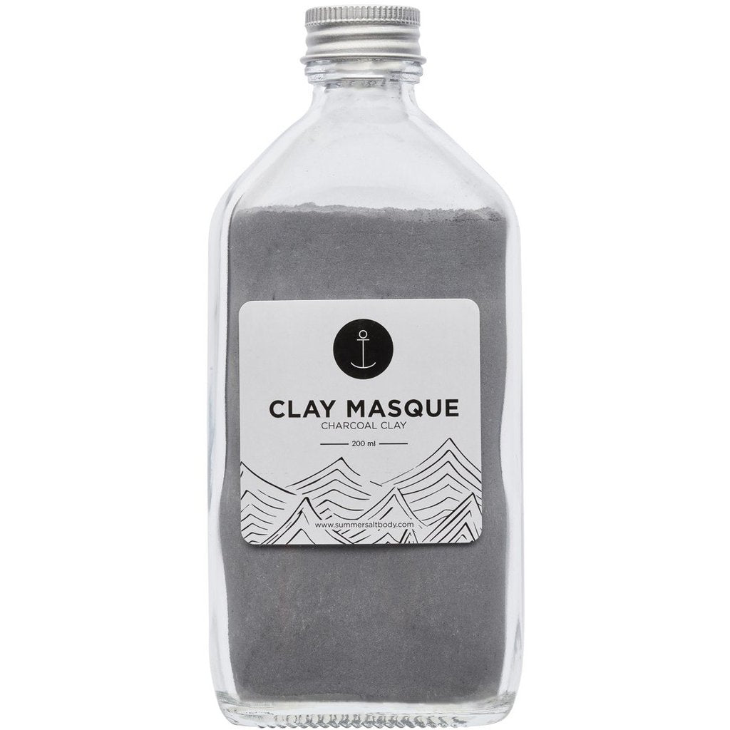 Activated Charcoal Clay Masque - 200ml (Comes with Application Brush & Spoon)