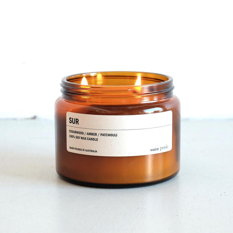 Amber Jar Soy Candle FIR
