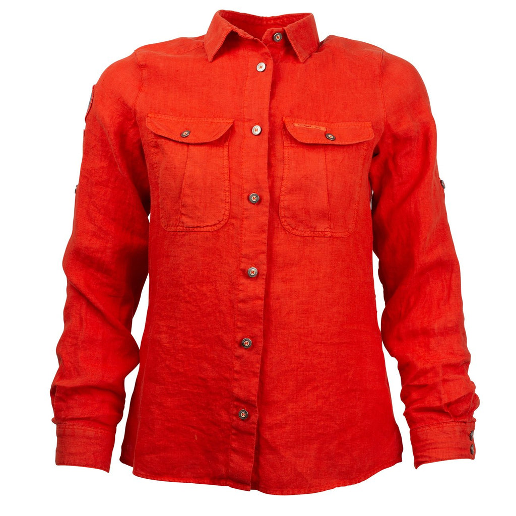 Safari Linen Shirt G. Dyed Women's