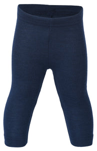 Leggings Wolle-Seide marine