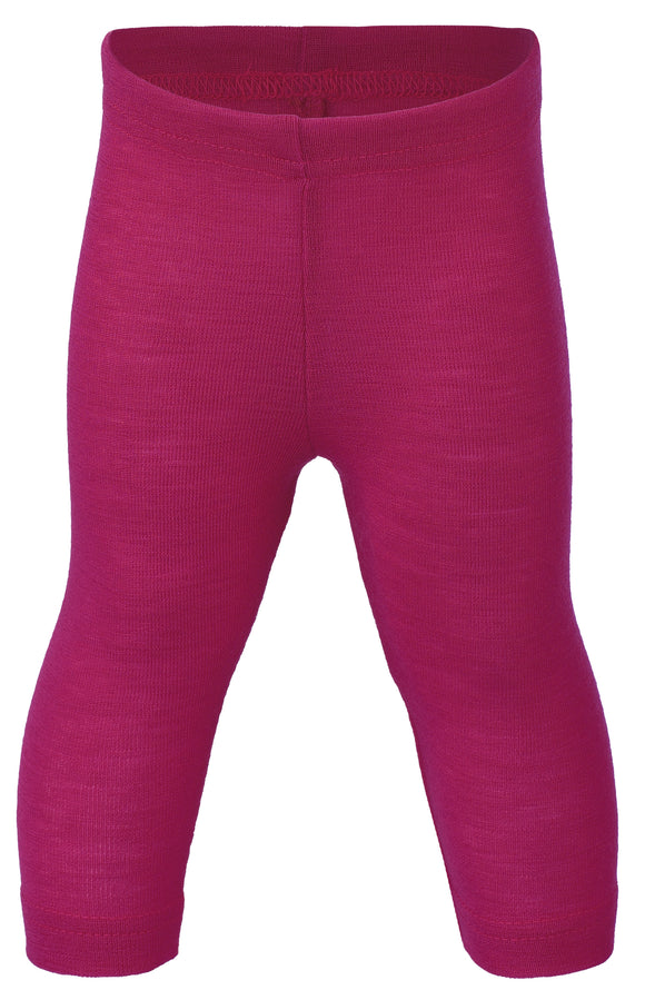 Leggings Wolle-Seide himbeer