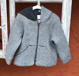 Jacke Michi Lambswool Double Walk grau