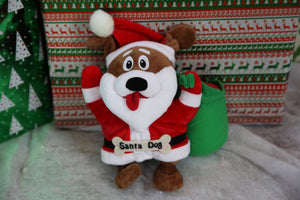 Santa Dog Plush Children's Toy