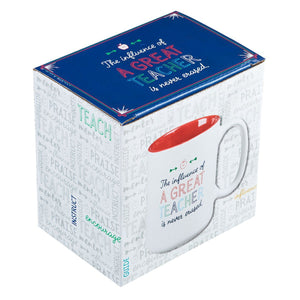 A Great Teacher Coffee Mug in Box